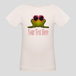 Frog in Pink Sunglasses Custom T-Shirt