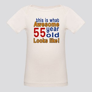 This Is What Awesome 55 Year Organic Baby T-Shirt