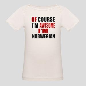 Of Course I Am Norwegian Organic Baby T-Shirt