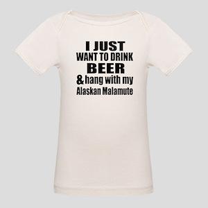 Hang With My Alaskan Malamute Organic Baby T-Shirt
