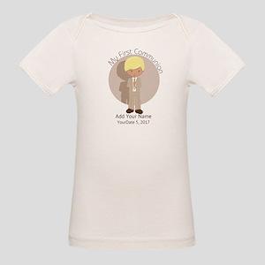 First Communion Blonde Hair Organic Baby T-Shirt