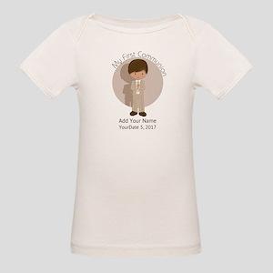 First Communion Brown Hair Organic Baby T-Shirt
