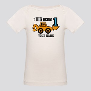 I Dig Being 1 Personalized Organic Baby T-Shirt