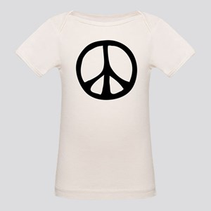 Flowing Peace Sign Organic Baby T-Shirt