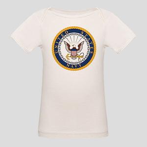 United States Navy Emblem Organic Baby T-Shirt