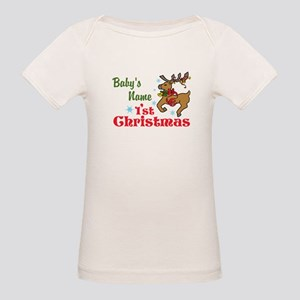 Personalize Babys 1st Christmas T-Shirt