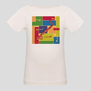 Bass Clarinet Colorblocks Organic Baby T-Shirt