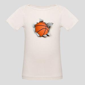 Basketball Burster Organic Baby T-Shirt