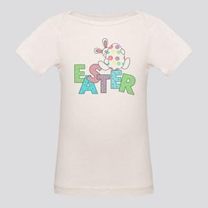 Bunny With Easter Egg Organic Baby T-Shirt