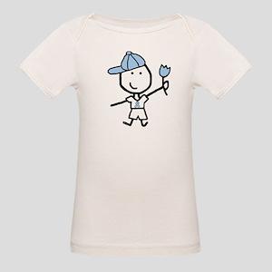 Boy & Lt Blue Ribbon Organic Baby T-Shirt