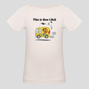 How I Roll (Hippie Bus/Van) Organic Baby T-Shirt