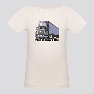 How I Roll (Tractor Trailer) Organic Baby T-Shirt