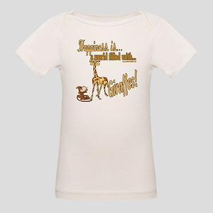 Happiness is a giraffe Organic Baby T-Shirt