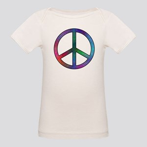 Multicolor Peace Sign Organic Baby T-Shirt