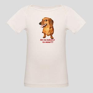 Looking at My Wiener Dachshun Organic Baby T-Shirt