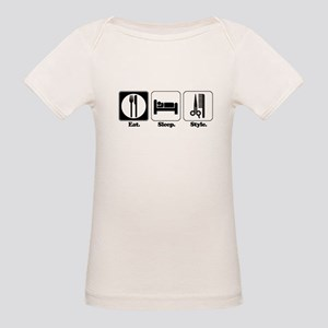 Eat. Sleep. Style. (Hair) Organic Baby T-Shirt