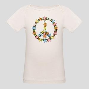 Peace Flowers Organic Baby T-Shirt