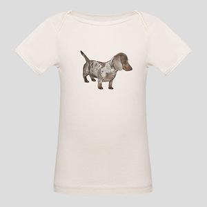 Speckled Dachshund Dog Organic Baby T-Shirt