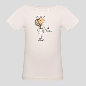 Girl I Love Tennis Organic Baby T-Shirt