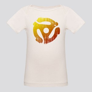 Distressed 45 RPM Adapter Organic Baby T-Shirt