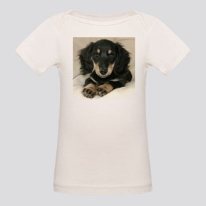 Long Haired Puppy Organic Baby T-Shirt