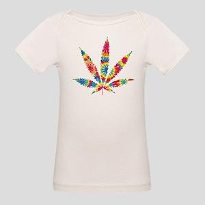 Rainbow Hippie Weed Organic Baby T-Shirt