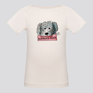 Doodles Rock Sign Organic Baby T-Shirt