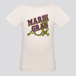Mardi Gras in Purple and Green Organic Baby T-Shir