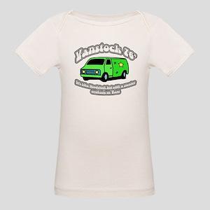 Vanstock 76 - White Text Organic Baby T-Shirt