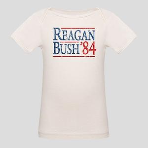 Reagan Bush 84 retro Organic Baby T-Shirt