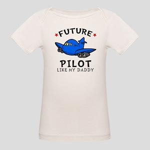 Pilot Like Daddy Organic Baby T-Shirt