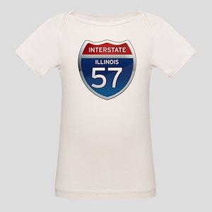 Interstate 57 - Illinois Organic Baby T-Shirt
