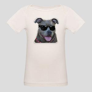 Pitbull in sunglasses Organic Baby T-Shirt