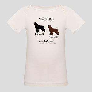 1 Black & 1 Brown Newf Organic Baby T-Shirt