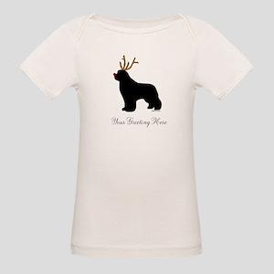 Reindeer Newf - Your Text Organic Baby T-Shirt