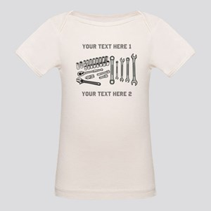 Wrenches with Text. Organic Baby T-Shirt