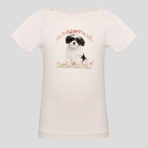 Havanese Flowers Organic Baby T-Shirt
