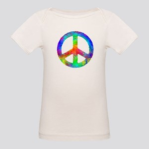 Multicolored Peace Sign Organic Baby T-Shirt