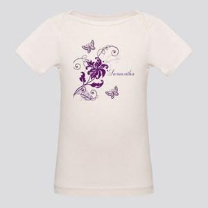 Purple Butterflies and Vines Organic Baby T-Shirt