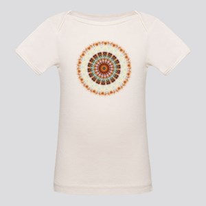 Detailed Orange Earth Mandala Organic Baby T-Shirt