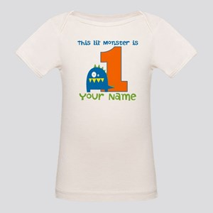 First Birthday Monster Organic Baby T-Shirt
