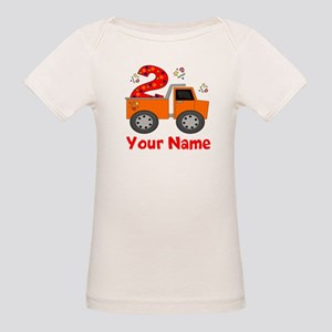 2nd Birthday Dump Truck Organic Baby T-Shirt