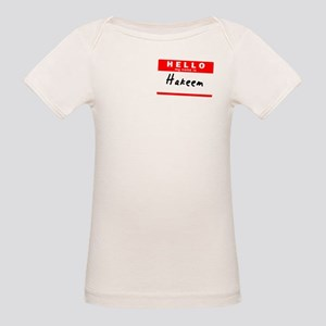 Hakeem, Name Tag Sticker Organic Baby T-Shirt