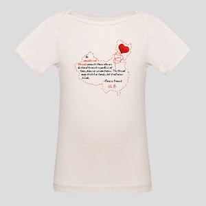 Red Thread on Light Organic Baby T-Shirt
