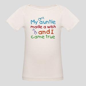 My Auntie made a wish Organic Baby T-Shirt