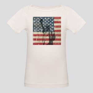 Vintage Statue Of Liberty Organic Baby T-Shirt