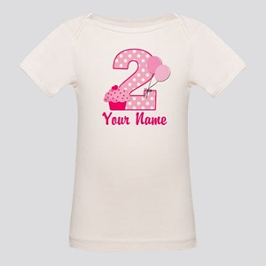 2nd Birthday Cupcake Organic Baby T-Shirt