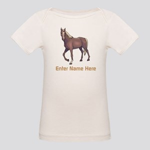 Personalized Horse Organic Baby T-Shirt