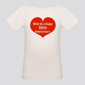 Wish us a Happy 50th Anniversary Organic Baby T-Sh