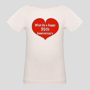 Wish us a Happy 50th Anniversary Organic Baby T-Sh